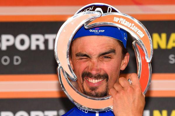 Depuis le début de l'année, Julian Alaphilippe enchaîne les victoires, comme ici sur la Milan / San Remo.