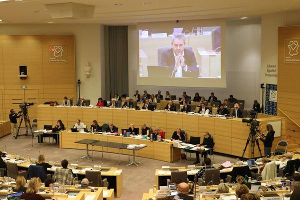 L'hémicycle du Conseil régional des Hauts-de-France le 13 décembre 2019