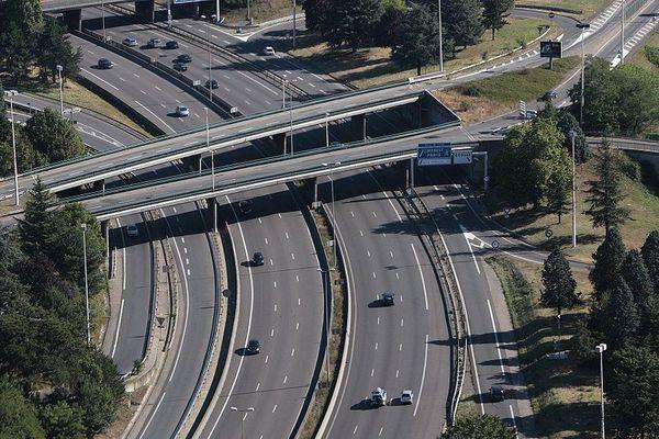 L'autoroute A6 au niveau d'Ecully (archives)