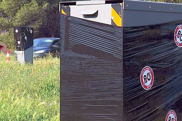 Montpellier - les radars masqués sur la 4 voies de l'aéroport - mai 2018.