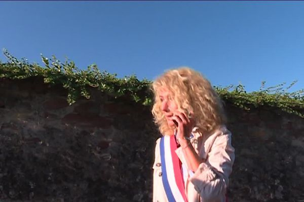Martine Wonner à la ZAD de Kolbsheim, après avoir reçu des gaz lacrymogènes
