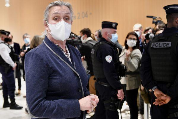 """La pneumologue Irène Frachon au palais de justice de Paris avant l'annonce du jugement dans l'affaire dite du """"Mediator"""", ce 29 mars 2021."""