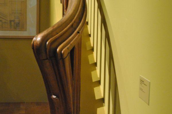 Louis Majorelle. Rampe d'escalier pommes de pin - Vers 1905