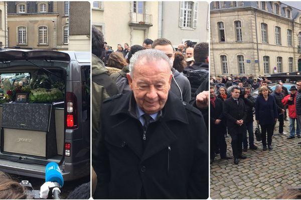 Les obsèques de Raymond Kopa en présence de nombreuses personnalités dont Just Fontaine (au centre)