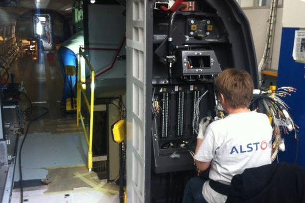 A l'usine Alstom d'Aytré en Charente-Maritime.