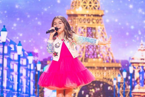 La jeune Rennaise Valentina lors de sa prestation victorieuse à l'Eurovision Junior