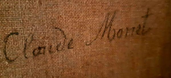 La signature de Claude Monet sur sa toile Dieppe.