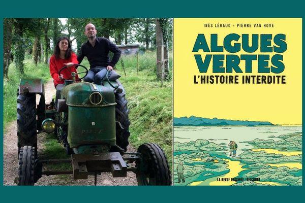 """Inès Léraud et Pierre Van Hove, auteurs de l'enquête """"Algues Vertes, l'histoire interdite"""" parue chez Delcourt / La Revue dessinée"""