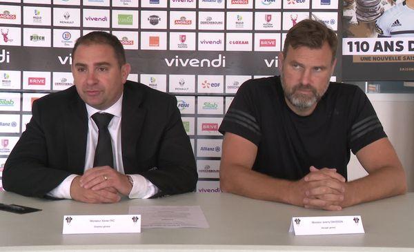 Xavier Ric, directeur général du CAB et Jérémy Davidson, manager du CAB