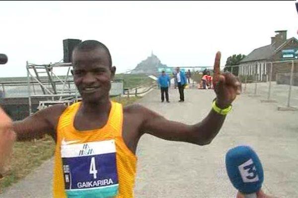 Moses Gaikarira (Kenya) a remporté le marathon du Mont Saint-Michel en 2h13 et 39 secondes.