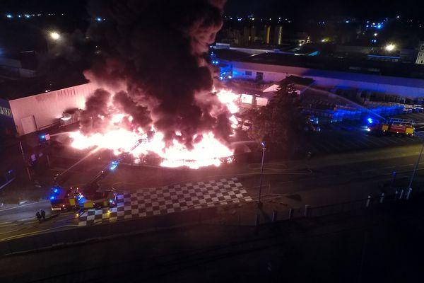 Incendie, à Strasbourg, dans l'entreprise Soprema.