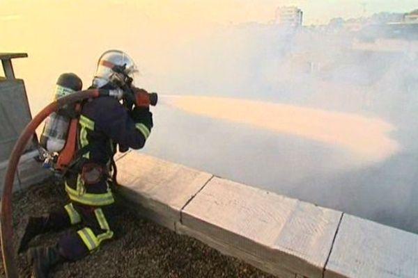 Un pompier luttant contre un incendie ( archives )