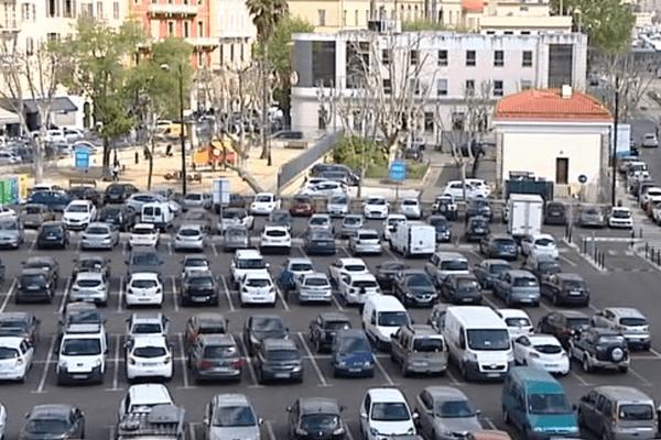 Le parking de la place Campinchi à Ajaccio