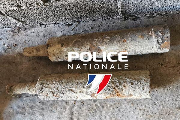 Ces obus ont été pêchés à l'aimant dans le Doubs.