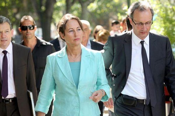 Déplacement de Ségolène Royal en Corse le 29/07/2014