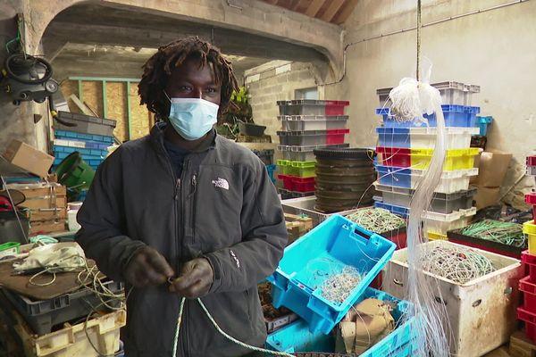Pap N'diaye travaille depuis trois ans pour une entreprise de pêche artisanale du Guilvinec, dans le Finistère
