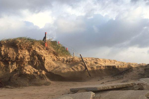 Dolus, Île d'Oléron, après le passage de la tempête Fabien