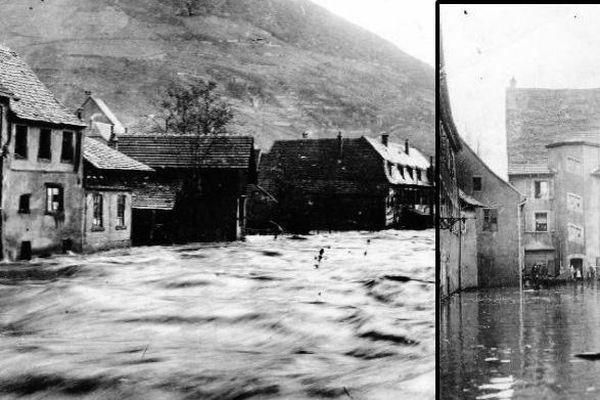 Première vague de la grande crue de 1919, le 24 décembre 1919