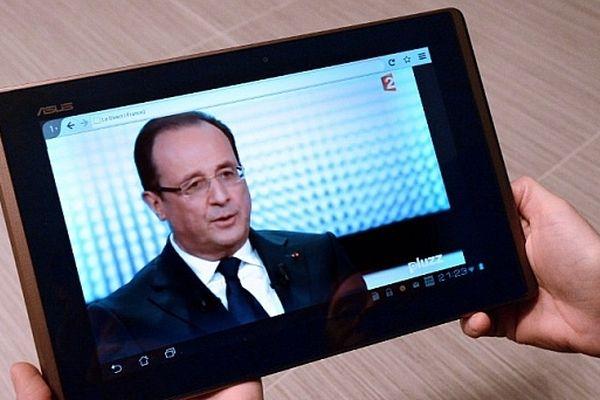 Francois Hollande lors de son intervention télévisée de jeudi 28 mars 2013 sur France 2