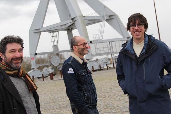 Trois des quatre auteurs : Gwen de Bonneval, Hervé Tanquerelle et Fabien Vehlmann