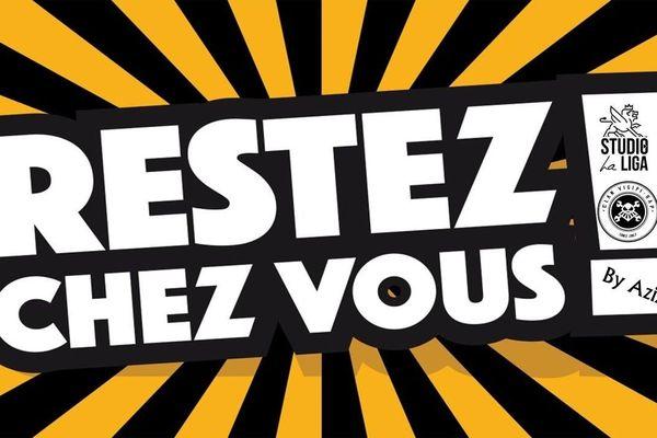 """""""Restez chez vous"""", le tube composé par Aziz, un rapeur de Charleville-Mézières dans les Ardennes."""