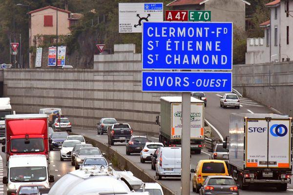 Un accident fait deux blessés, dont un grave, sur l'A47, peu après la sortie Givors ouest, dans le sens Saint-Etienne / Lyon. (image archives)