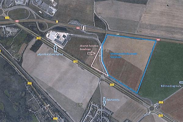 Plan de la zone d'activité où construira Goodman