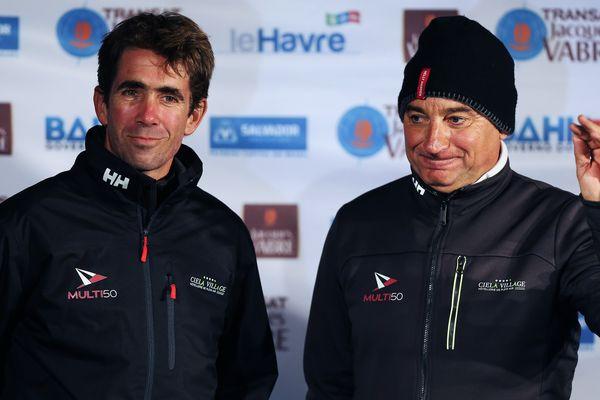 Les varois Olivier Krauss (à gauche) et Thierry Bouchard participent à la transat Jacques Vabre 2017