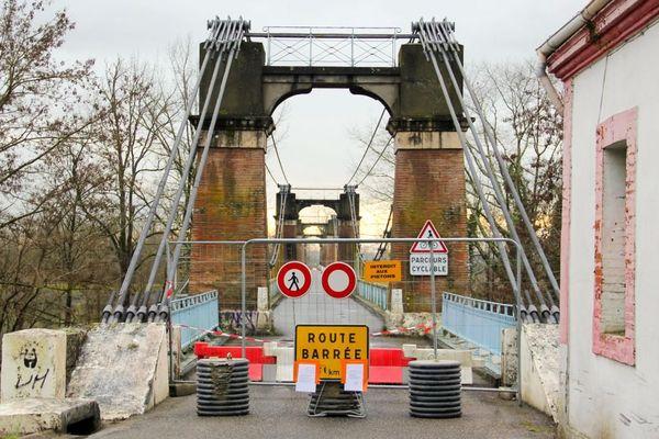 Le 15 janvier lors d'une opération de contrôle du pont de Coudol (Tarn-et-Garonne), un câble rompu a été découvert.