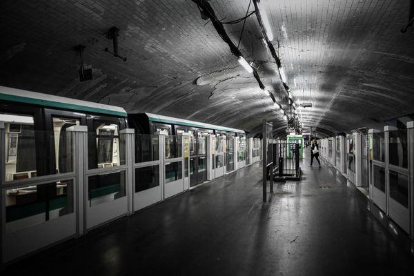 Le métro parisien, le 30 avril 2020 (illustration).