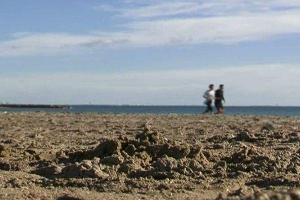 La plage de Carnon un 26 décembre