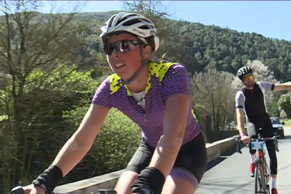 Morgane Moinard, une des 1200 participants de ce Paris-Nice Challenge.