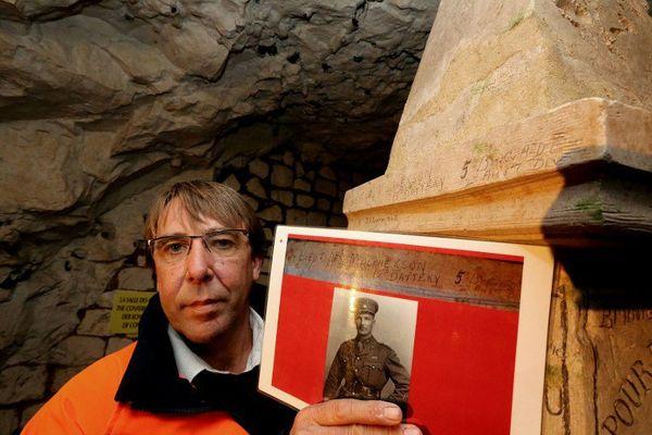 Gilles Prilaux, archéologue de l'Institut national de recherches archéologiques préventives (Inrap) à l'origine de la découverte.