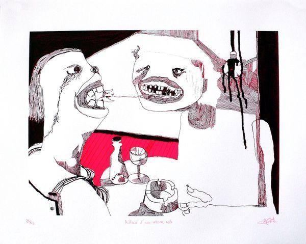 Le plasticien a travaillé pendant trois ans à dessiner ceux qui fréquentaient les bars de Pantin.