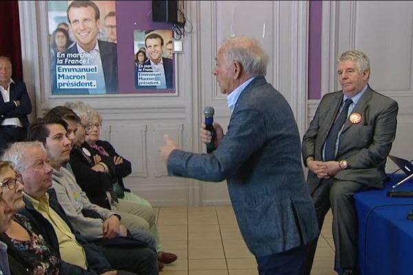 Besançon : François Patriat, soutien d'Emmanuel Macron