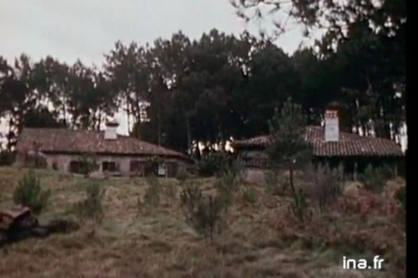 L'airial de Latche à Soustons dans les Landes en 1975
