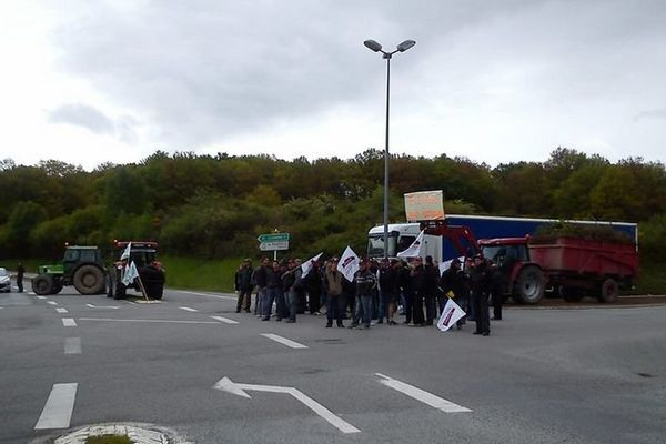 Aubusson, 28 mai 2013. Action syndicale de la FDSEA de la Creuse