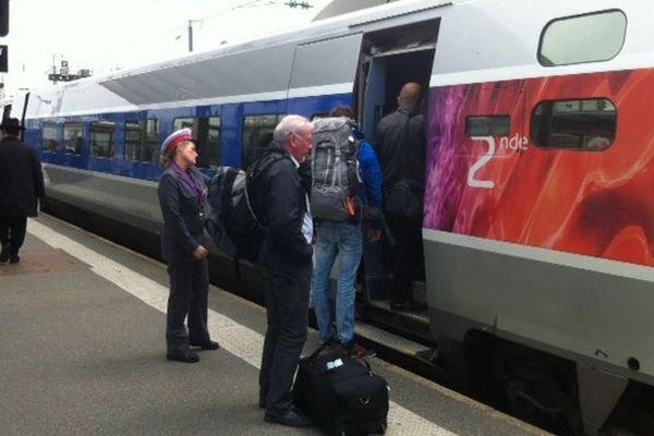 TGV en gare de Rennes