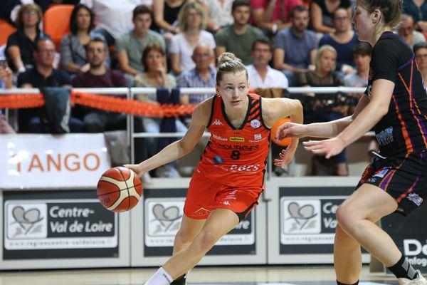 Marine Johannes, lors du 2e match de la finale de Ligue féminine 2018 entre Bourges et Tarbes