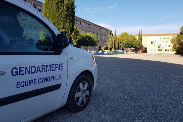 """Une vingtaine de gendarmes est engagée avec une équipe cyno spécialisée """"explosifs"""""""