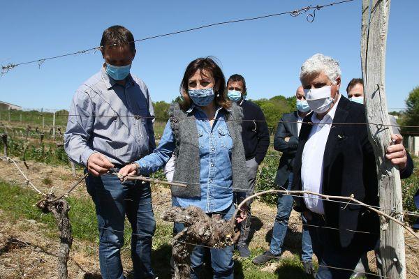 Carole Delga et le président du conseil départemental du Gers, Philippe Martin, l'un des signataires de l'appel en avril.