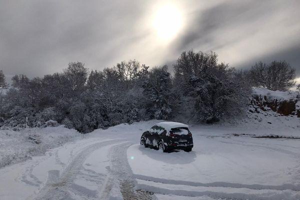 Neige dans le Var, à Canjuers et Bargemon dans le Var ce 5 janvier !