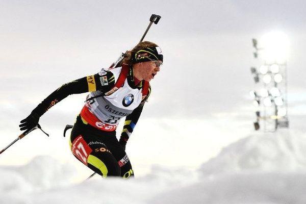 Anaïs Bescond sur les neiges de la coupe du monde de biathlon