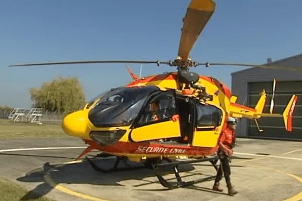 L'hélicoptère Dragon 64 de la Sécurité civile