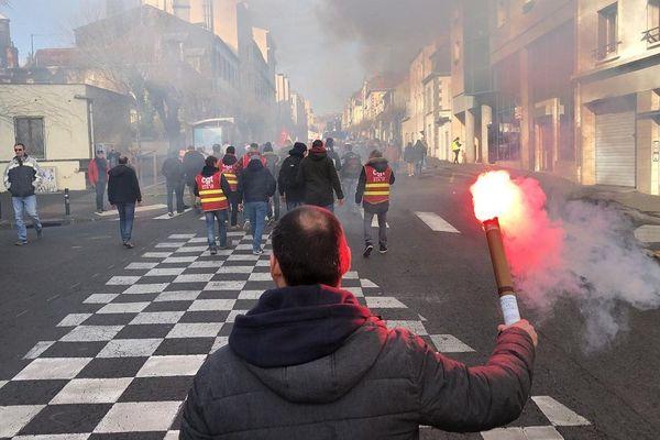 A Clermont-Ferrand, nouvelle journée de manifestation contre la réforme des retraites, vendredi 24 janvier.