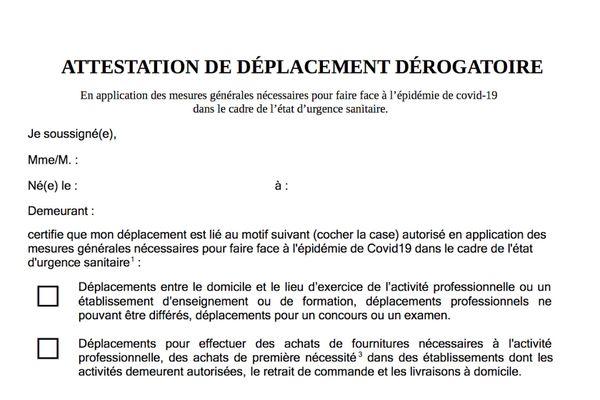 Confinement En Corse Voici Les 3 Attestations De Deplacement A Telecharger