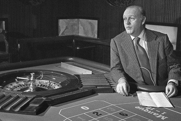 Photo d'archives datant de 1976 de Jean-Dominique Fratoni, ancien PDG du Casino Ruhl de Nice.