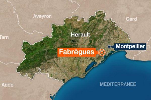 Carte de Fabrègues (Hérault)
