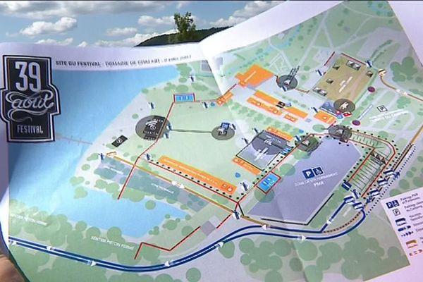 Les scènes et les festivaliers vont investir le domaine de Châlain, au bord du lac, propriété du Département.