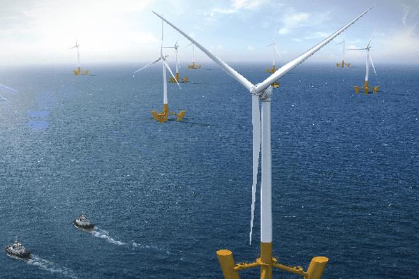 Six éoliennes flottantes au large de l'île de Groix à l'horizon 2019